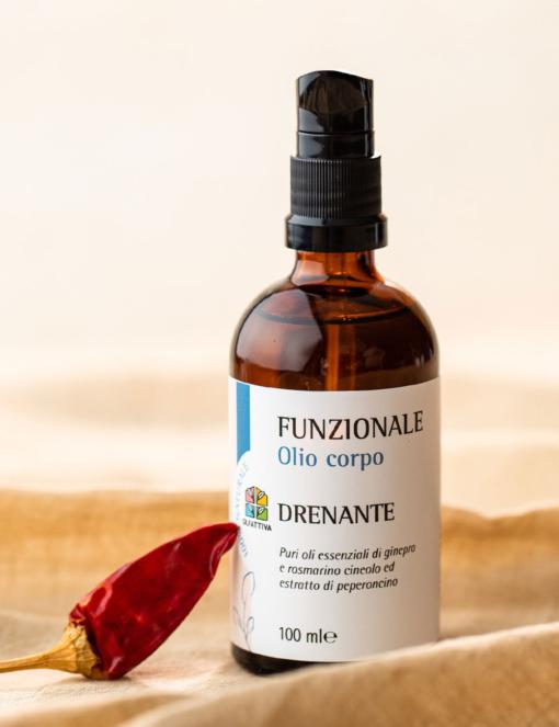 Olio Corpo Cellulite con Oli Essenziali: Drenante - Olfattiva