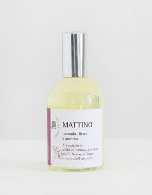 spray per aromaterapia con oli essenziali di arancio litsea e lavanda