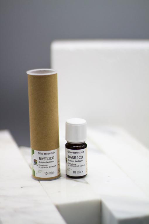 olio essenziale basilico confezione