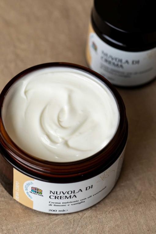 Crema Corpo Naturale aperta: Nuvola di Crema - 200 ml - Olfattiva